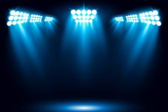 Illuminated Stage illustration de scène de projecteur de lumière