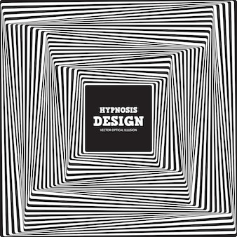 Illusion d'optique abstraite. fond rayé noir-blanc torsadé