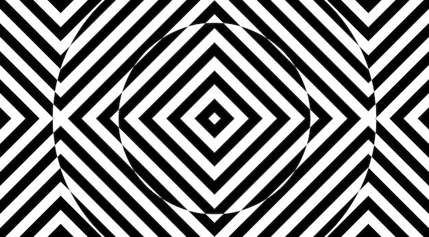 Illusion d'optique conception de vecteur de fond à rayures géométriques.