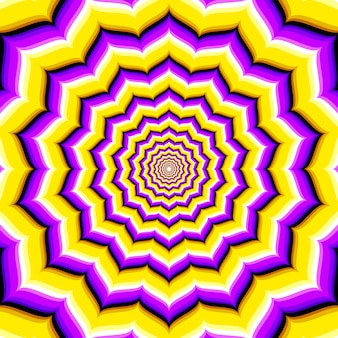 Illusion d'optique hypnotique abstraite