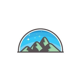 Illusration de montagne, concept de conception de logo de montagne