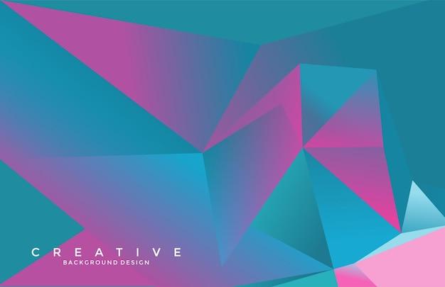 Illustation abstraite de géométrie origami futuriste