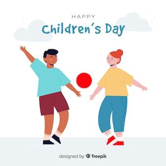 Illustraion avec dessinés à la main pour la journée des enfants