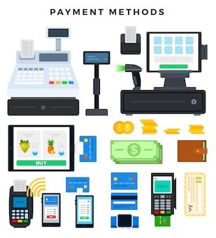 Illustrant les modes de paiement