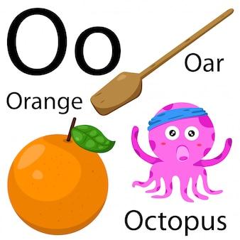 Illustrateur de l'alphabet o