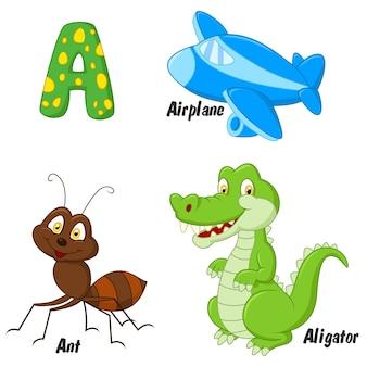 Illustrateur d'un alphabet