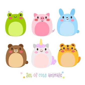 Illustrateur de animal set