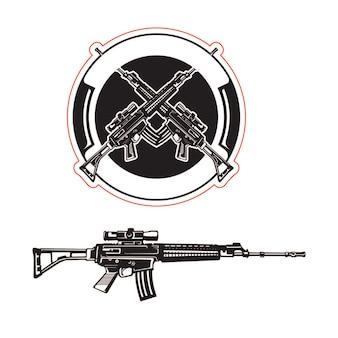Illustrateur armes armée