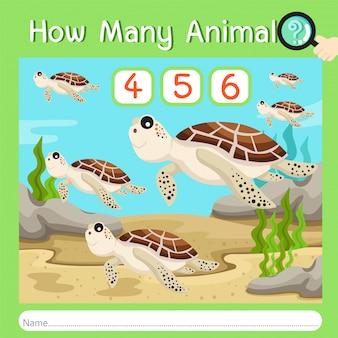 Illustrateur de combien d'animaux cinq