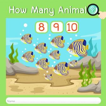 Illustrateur de combien d'animaux quatre