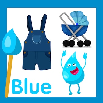 Illustrateur de couleur bleue