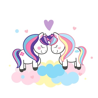 Illustrateur couple licorne