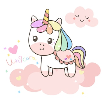 Illustrateur du dessin animé de la licorne
