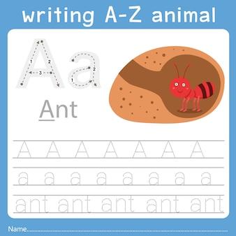 Illustrateur de l'écriture d'un animal a
