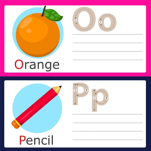 Illustrateur d'exercices op pour enfants
