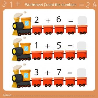 Illustrateur de feuille de calcul compte le nombre deux
