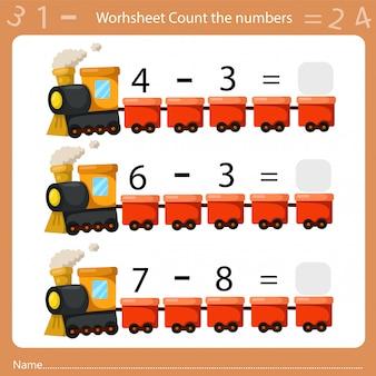 Illustrateur de feuille de calcul compte le nombre quatre