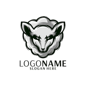 Illustrateur de logo de mouton