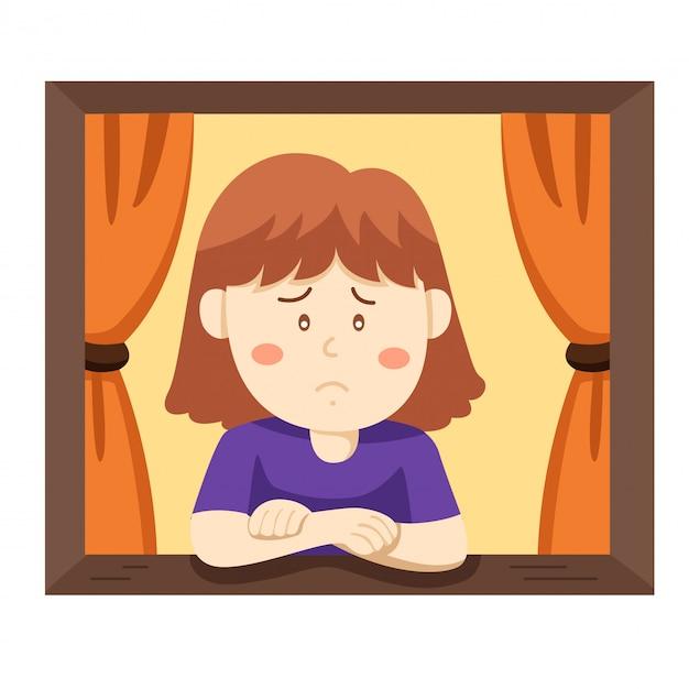 Illustrateur de ma fille malheureuse