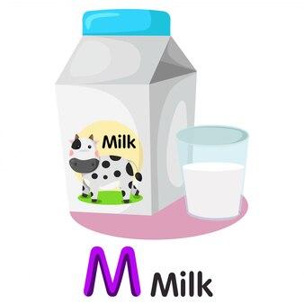 Illustrateur de police m avec du lait