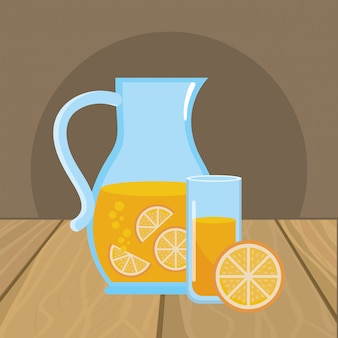 Illustrateur de vecteur de jus d'orange isolé