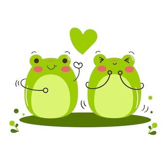 Illustrateur de vecteur mascotte grenouille