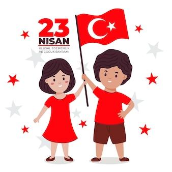 Illustration de 23 nisan dessinés à la main