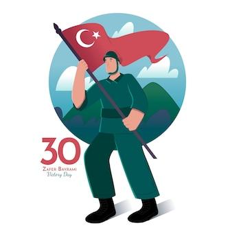Illustration de 30 août dessinés à la main