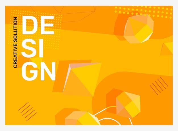 Illustration de l'abstraction jaune vif créatif dans le cadre abstrait d'affaires