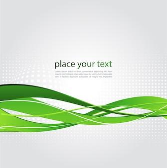 Illustration abstrait avec vague verte