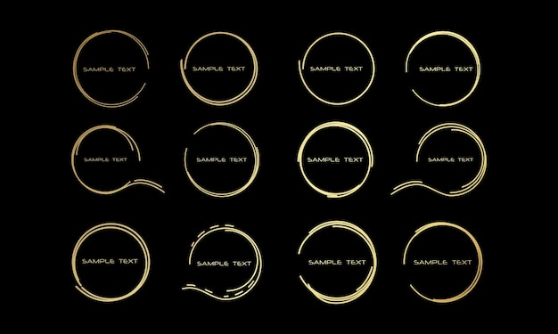 Illustration abstraite cadres ronds dessinés pour les bulles de texte