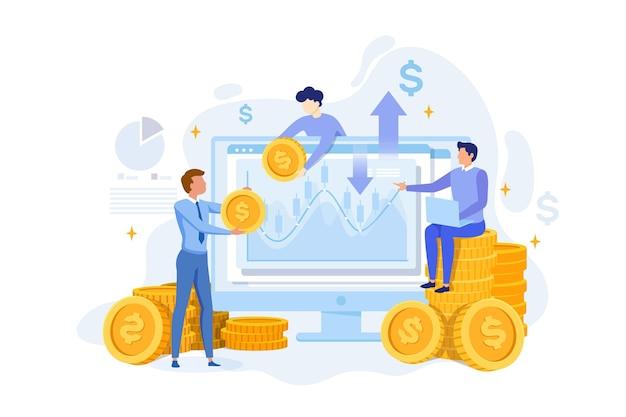 Illustration abstraite des données boursières