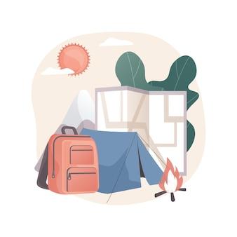 Illustration abstraite du camp d'été.