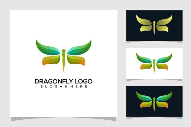Illustration abstraite du logo libellule