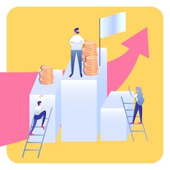 Illustration abstraite de l'échelle de l'entreprise