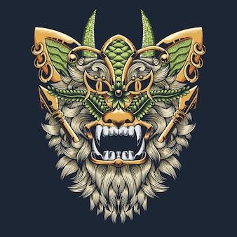 Illustration abstraite de lion