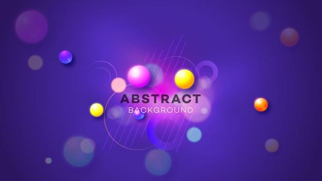 Illustration abstraite de lueur au néon géométrique.