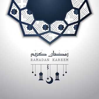 Illustration abstraite de mandala de conception islamique de ramadan kareem