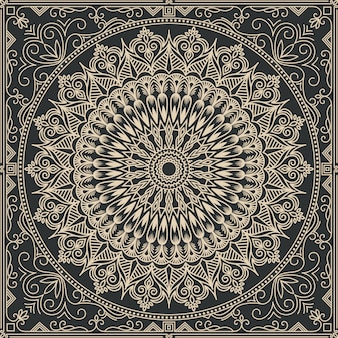 Illustration abstraite de mandala