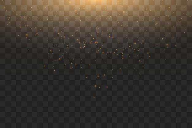 Illustration abstraite de nuage doré glitter wave.