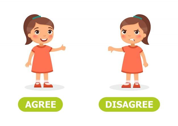 Illustration d'accord et en désaccord
