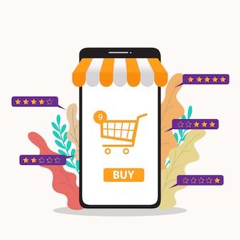 Illustration d'achats en ligne
