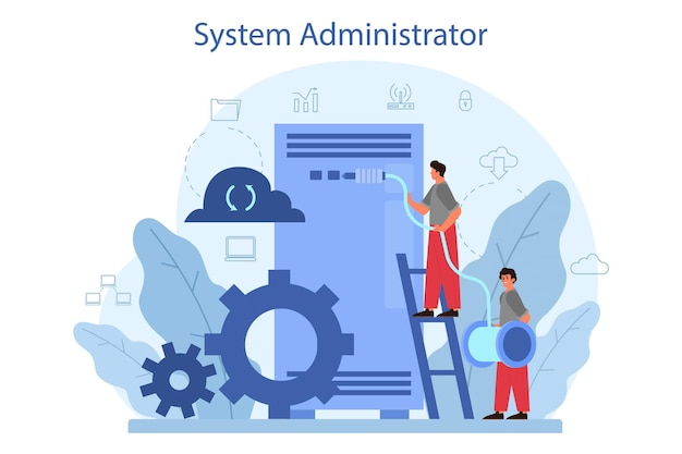 Illustration de l'administrateur système