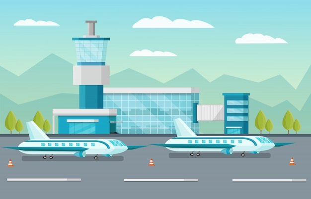 Illustration de l'aéroport