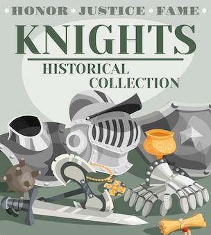 Illustration d'affiche de chevalier