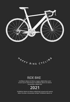 Illustration d'affiche de cyclisme