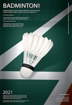Illustration de l'affiche du championnat de badminton