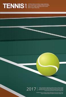 Illustration de l'affiche du championnat de tennis