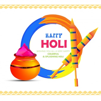Illustration de l'affiche happy holi