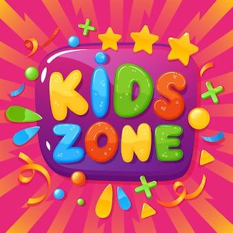 Illustration de l'affiche de la salle de jeux pour enfants
